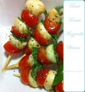 Basil Tomato Mozzarella skewers | Food | Pinterest