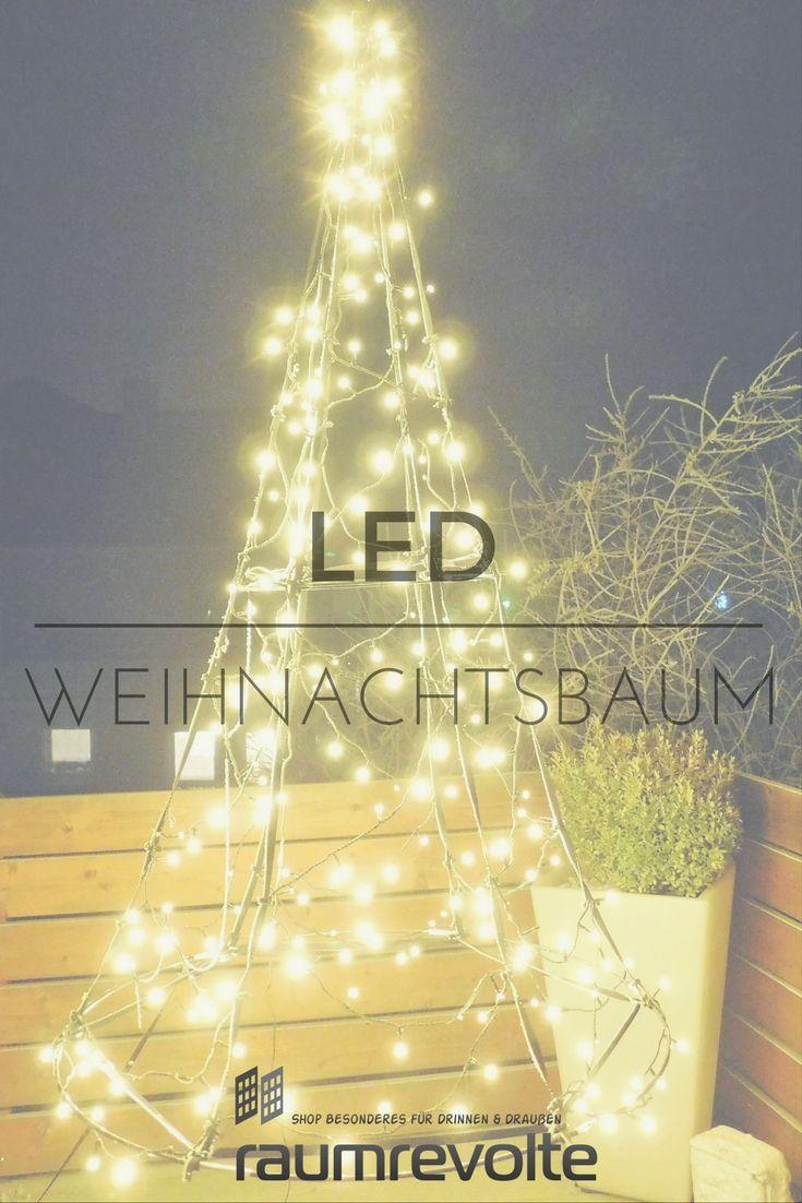 Simple Weihnachtsbaum mal h ngend cm LED Baum von Fairybell warmwei leuchtend
