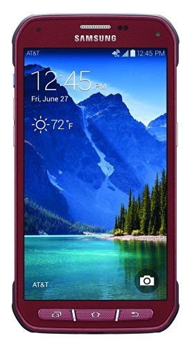 Samsung Galaxy S5 Active, Ruby Red 16GB (AT&T) - http://21stmobile.com/contract-cell-phones/samsung-galaxy-s5-active-ruby-red-16gb-att/