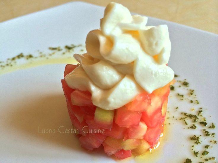 Tartare di pomodoro con maionese vegetale   Luana Cestari   Cucina naturale d'autore
