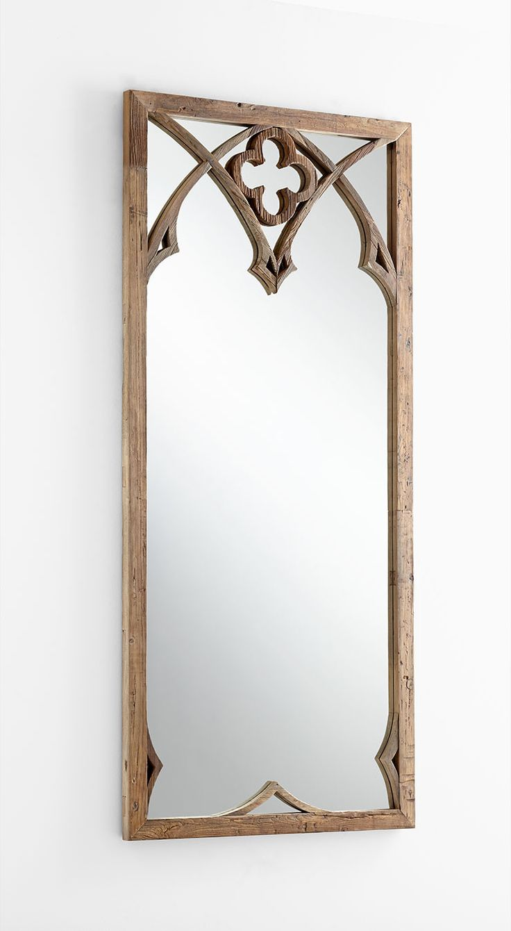 """Tudor Mirror - 39.5""""(w) x 86.5""""(h) x 1.75""""(ext) - Black Forest Grove - Wood and Mirrored Glass Please allow 1 - 2 weeks to ship out and receive tracking. *This item is excluded from sale events and no"""