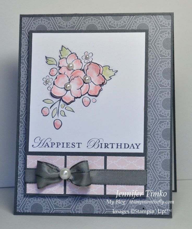 Mom Birthday, Wedding Cards, Soft Colors, Cards Stampin, Cards Birthday, Birthday Cards, Jennifer Timko, Cards Flow, Stampin Up Cards