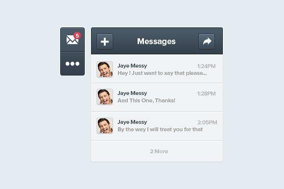 Message App Interface. Interface #message #application