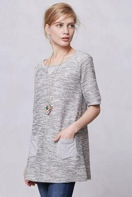 Shimmered + pocketed fall tunic