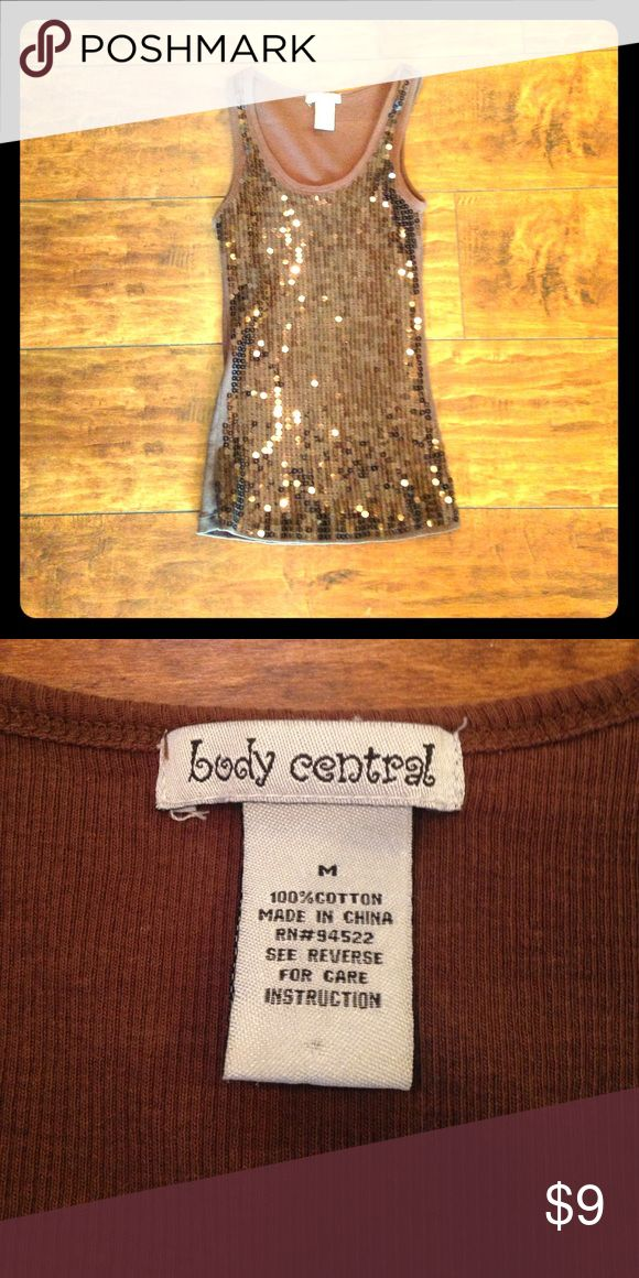 Body Central Sequin Tank Bling sequin tank in excellent condition! Body Central Tops Tank Tops