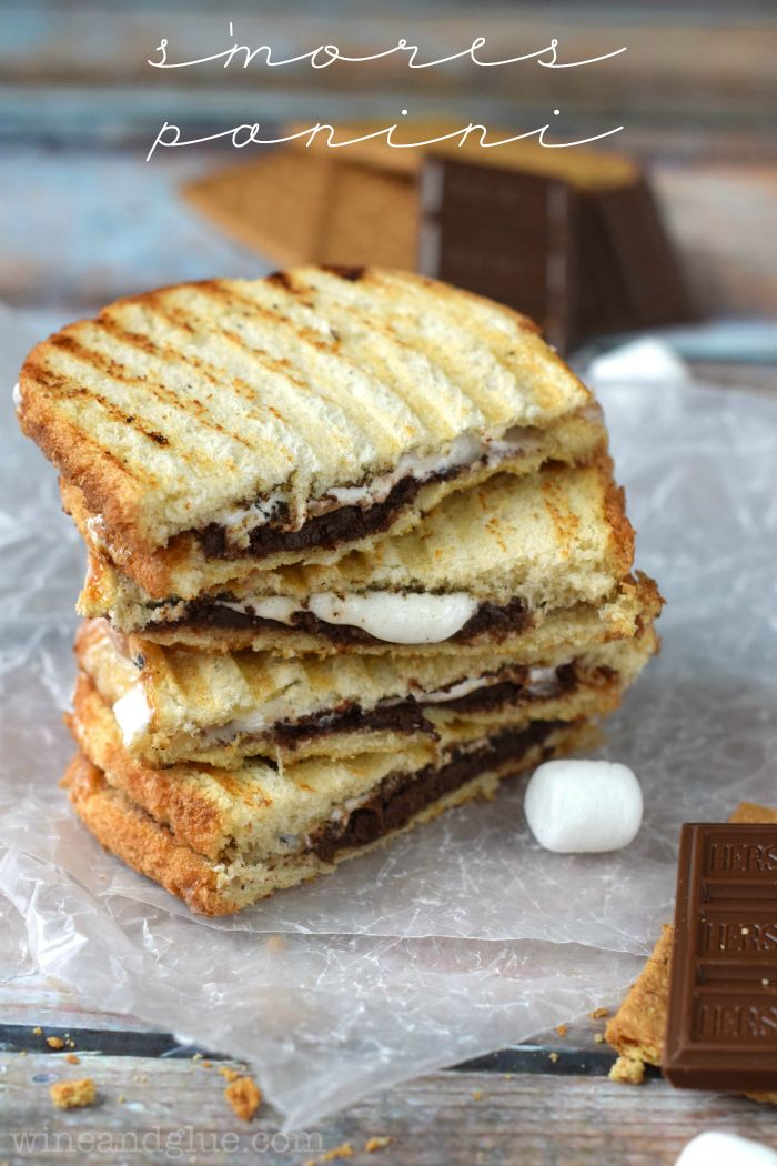 mores Panini | Chocolatey marshmallow deliciousness in a sandwich!