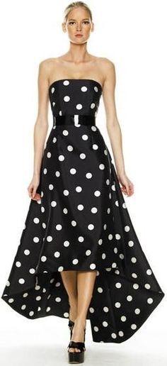 Polka dots in black & white
