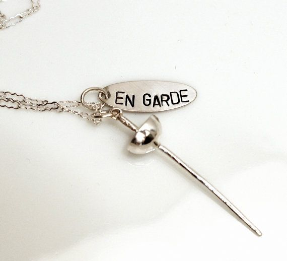 """En Garde"" Warrior Necklace - Tiny Sterling Silver Sword by SirensSoul"