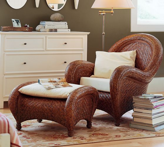 Pottery Barn Malabar Chair And Ottoman Always Loved This