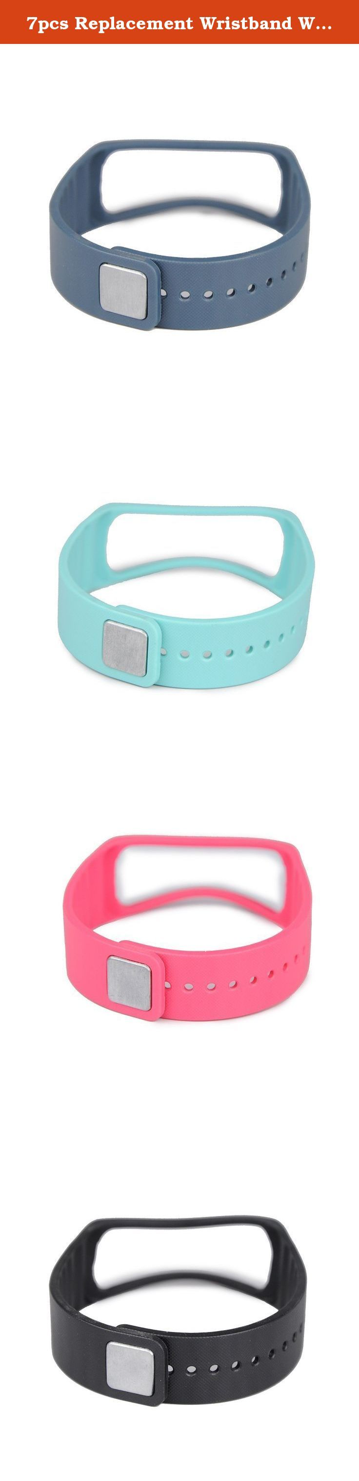 7pcs Replacement Wristband Wrist Band for Samsung Galaxy Gear Fit Bracelet Armband # 7color Band. No Tracker - Rubber Band with Metal Clasp (slate color replacement for samsung band and clasp) FOR Samsung Galaxy Gear Fit ONLY!!! Not for other models!!! Comfortable for sporting time,Look good no matter what you are wearing Personalize your wristband to match your daily style with this brand new color choices Free size wristband accessory ,Replacement for lost or damaged Bands .