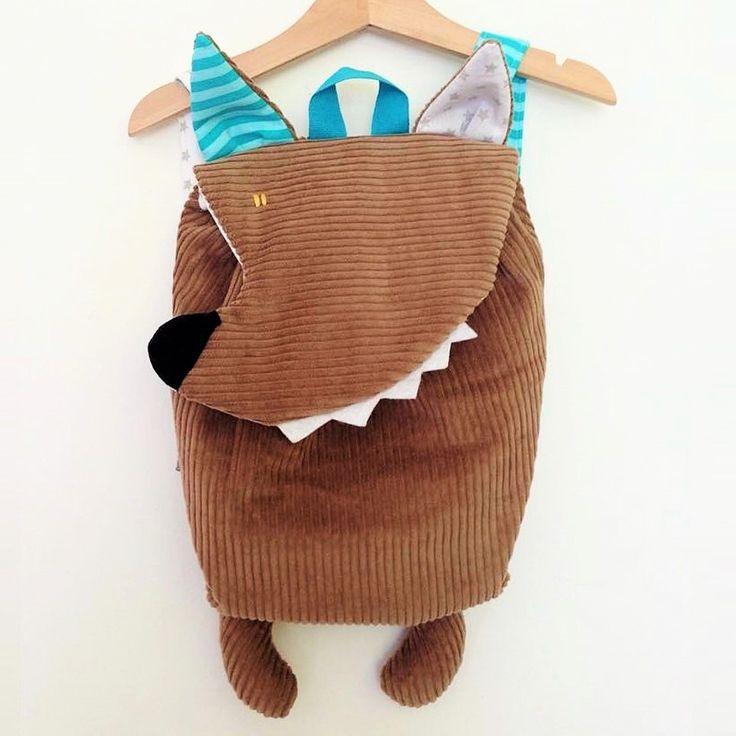 Zainetto Per Scuola Materna Personalizzabile con il Nome - Il Lupo | Olalla