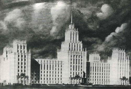 Lithuania, Vilnius, 1952, Ministrų tarybos rūmų projektas (The palace of the council of ministers)