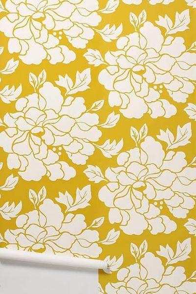 Porridge: Paeonia Wallpaper Gold | The ODELLS Shop