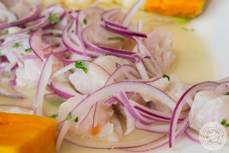image of Ceviche de corvina or fish ceviche at El Anzuelo Fino in Woodhaven, NY