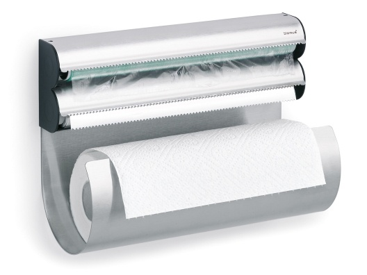 paper towel, aluminum foil and plastic wrap holder- very very cool and innovative