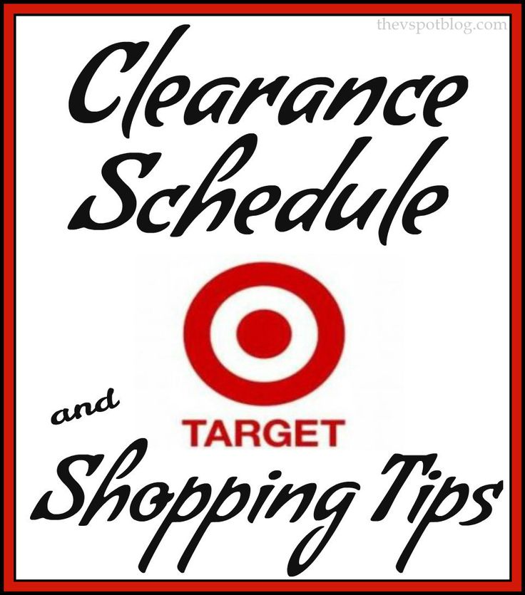The V Spot: Target Clearance Schedule & Shopping Tips