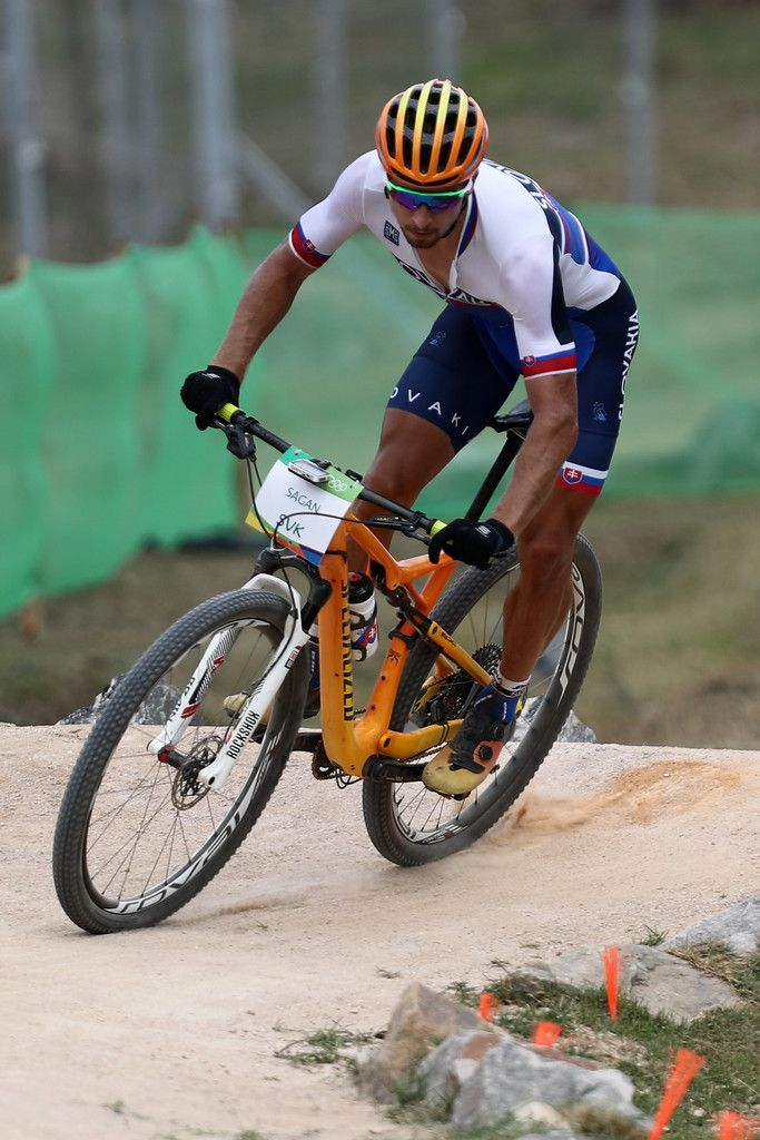 Peter Sagan of Slovakia practices on the Mountain Bike course on Day 15 of the Rio 2016 Olympic Games at the Mountain Bike Centre on August 20, 2016 in Rio de Janeiro, Brazil.