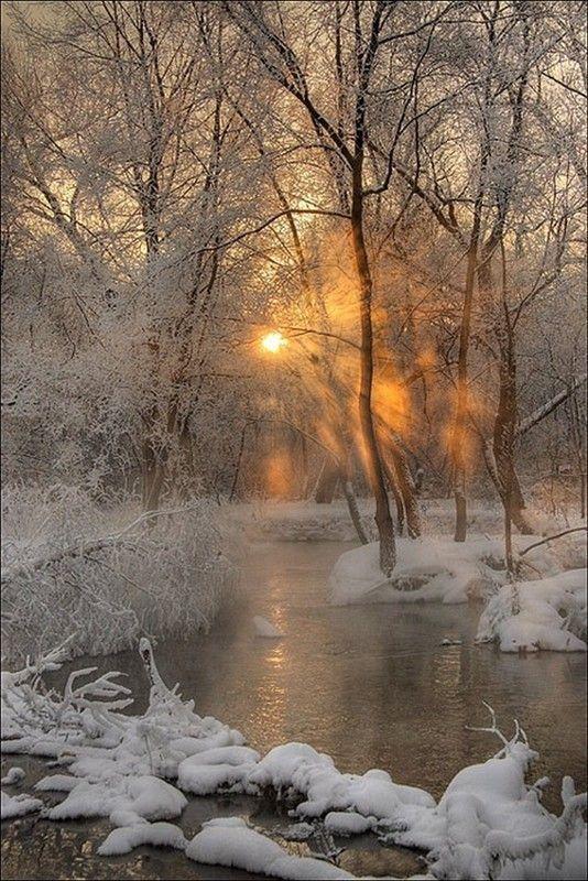 paysage ou se confonde soleil te neige