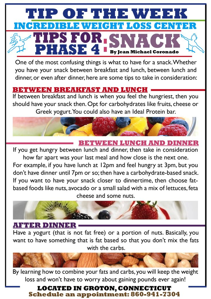 Looking for ideas and tips for your snacks on Phase 4? Well then take a look at this tip! It will help you throughout your maintenance phase.