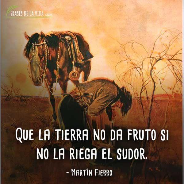 100 Frases De Martín Fierro El Libro Nacional De Los Argentinos Imágenes Frases Frases De La Vida Cantando