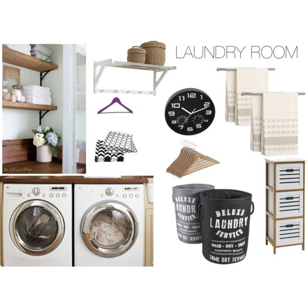 Laundry room by kkru on Polyvore featuring interior, interiors, interior design, home, home decor and interior decorating