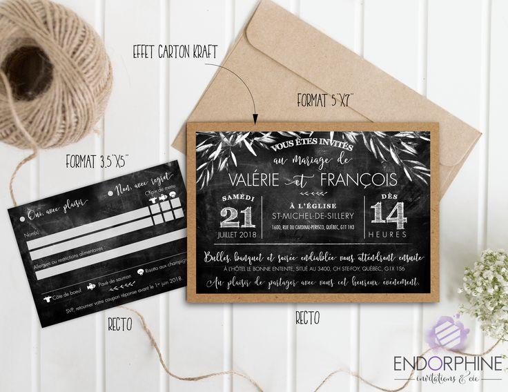 Invitation tableau noir Endorphine, version imprimable