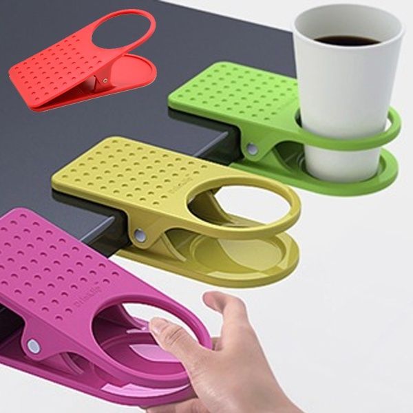 Table Desk Cup Holder Clip Drink Clip Coffee Holder