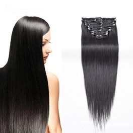 """30"""" Clip In Brazilian Human Hair Extensions- 200g 