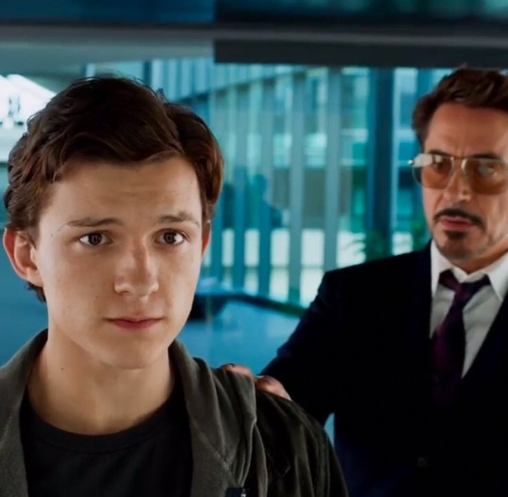 Tom Holland & Robert Downey Jr   Peter Parker & Tony Stark   Spiderman   Spider-Man Homecoming  