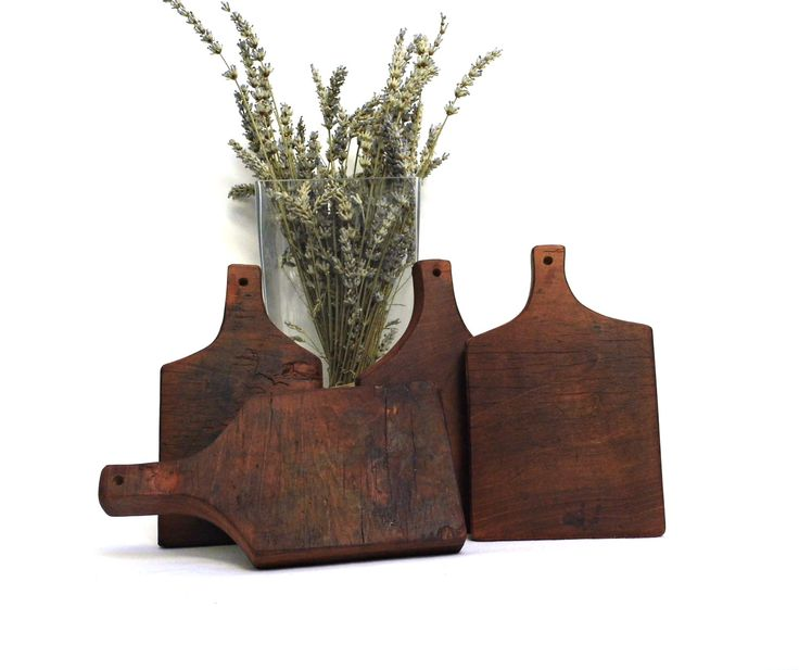 Vintage Chopping Cutting Board Cherry Wood Rustic Bread Cheese Onion Small Plate Serving Rustic Kitchen Utensils Tool Gadget Farmhouse Decor by WoodHistory on Etsy
