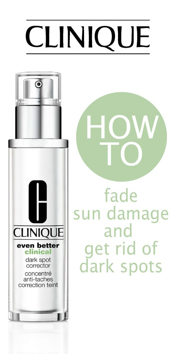 How to fade sun damage and get rid of dark spots.
