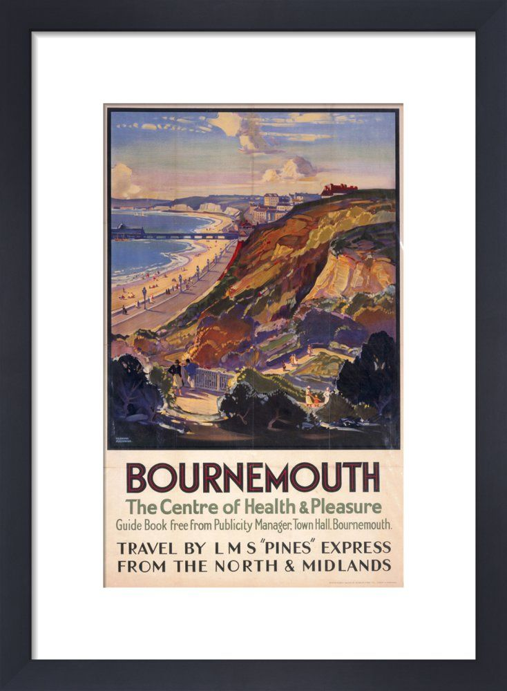 Bournemouth - Centre of Health and Pleasure Art Print by National Railway Museum   King & McGaw