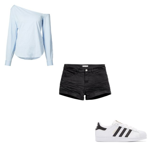 """#411"" by aureeliet on Polyvore featuring adidas Originals, H&M and Theory"