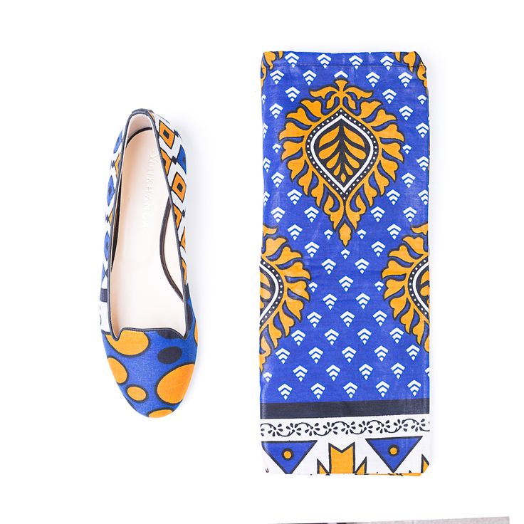 YOU KHANGA Yellow & Blue Slippers are made of yellow / blue and black (inside) etnic fabric Khanga and black leather details. Slip them on with everything from leather pants to mini dresses.  SHOP THEM AT http://finaest.com/designers/you-khanga/youkhanga-yellow-blue-slippers