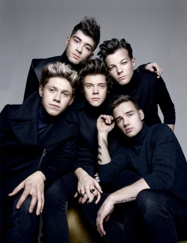 One Direction pose for GQ magazine.