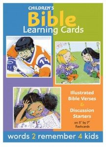 We have a Winner!  Congratulations to Briana Eibest on winning two boxes of Bible Learning Cards from words 2 remember 4 kids!