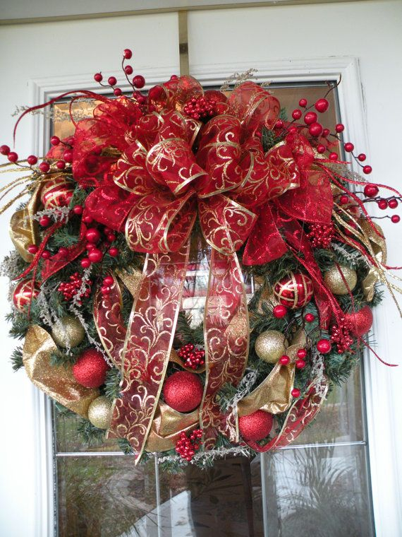 Christmas Wreath Holiday Wreath Christmas by KathysWreathShop, $69.99