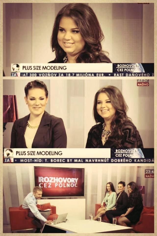 Vivian took a part in competition Miss Plus Size and had an interview in TV! Proud <3