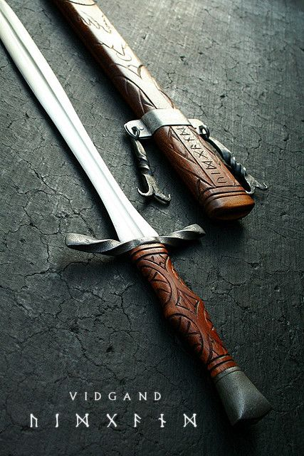 I love everything about this, especially the handle  detail -   Vidgand 2 by Cedarlore Forge - (formerly Mad Dwarf Workshop), via Flickr