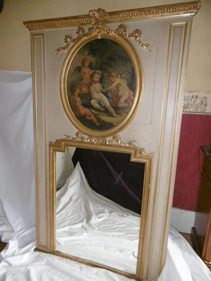 Trumeau En Bois Laqué Louis XVI, Antiquités Saint Nicolas, Proantic