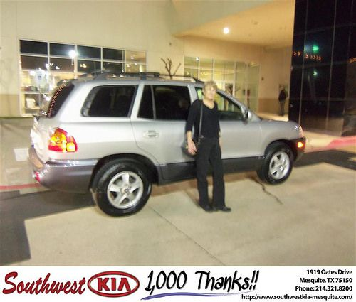 Happy Anniversary to Wanda Bonner on your 2004 #Hyundai #Santa Fe from David Jones and everyone at Southwest Kia Mesquite! #Anniversary