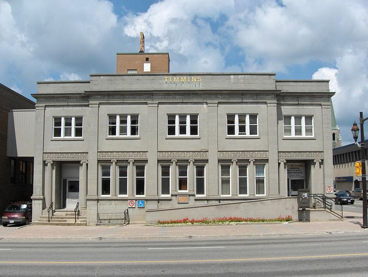 City Hall Engineering Building in Timmins, Ontario.jpg - Formerly the public library.