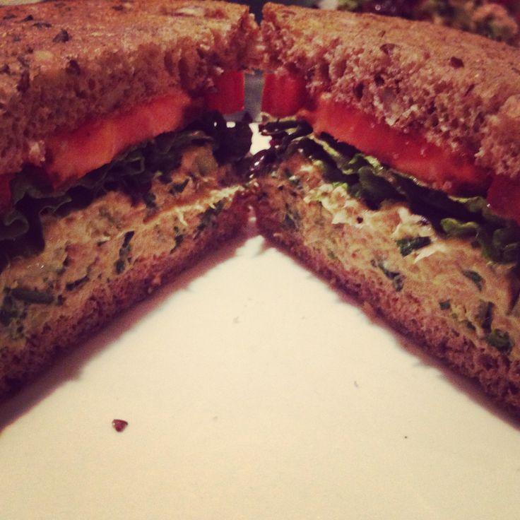 Salmon Salad Sandwich: Vegan