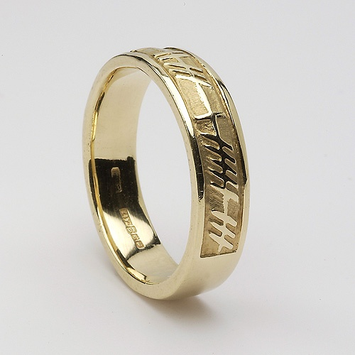 Ogham wedding ring c 3816 irish wedding rings pinterest for 5 golden rings decorations