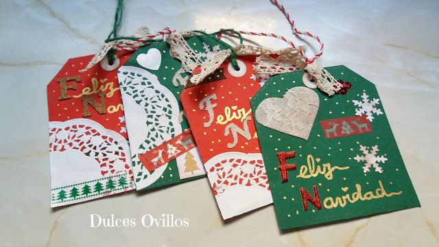 Dulces Ovillos: Tags Navideños - Christmas tags