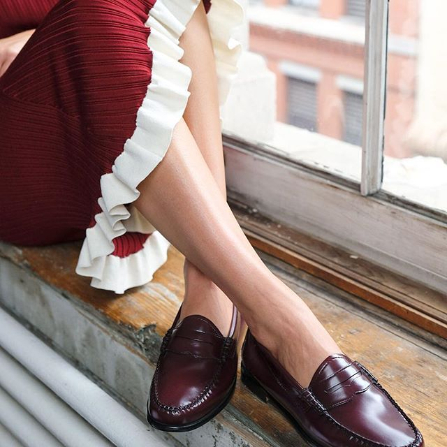Women in penny loafers and flats