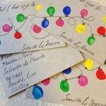 Julkort av fingerfärg. Pyssel för stora och små barn. Pyssligheter.se