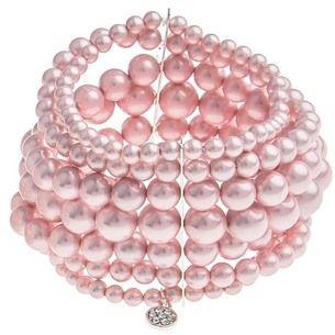 SNÖ Of Sweden - Alva Elastic Bracelet 7-String Pink S/M - 617-3557070