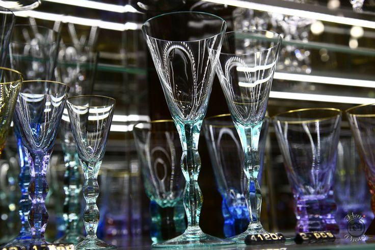Cseh színes poharak