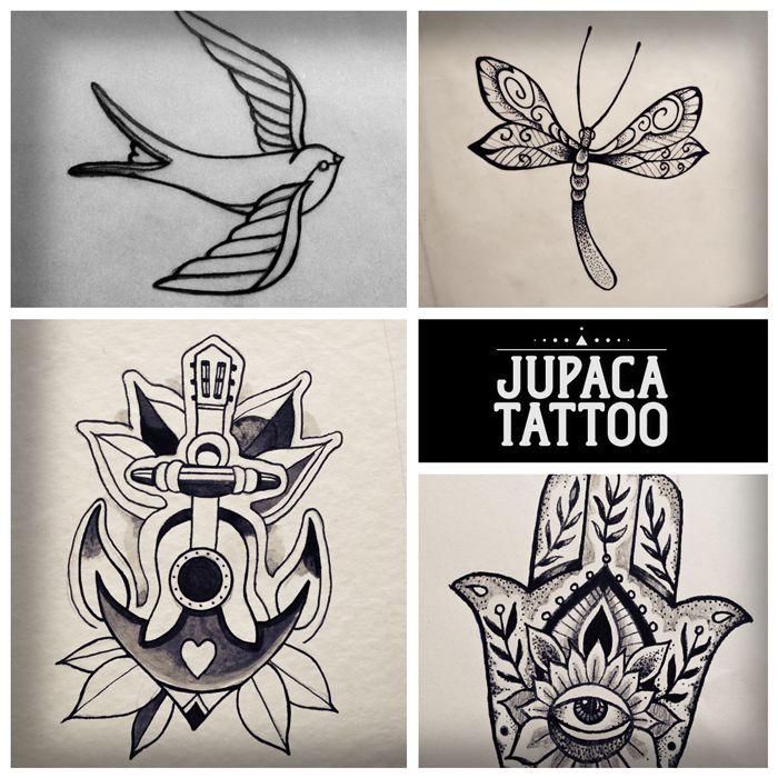 Juan Pablo Cacchione :: jupaca tattoo :: golondrina :: ancla :: hamsa :: libelula :: tatuaje